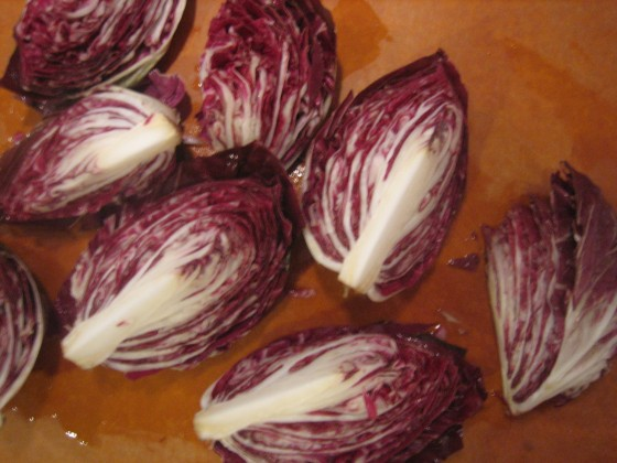 Grilled Radicchio - Quartered Radicchio