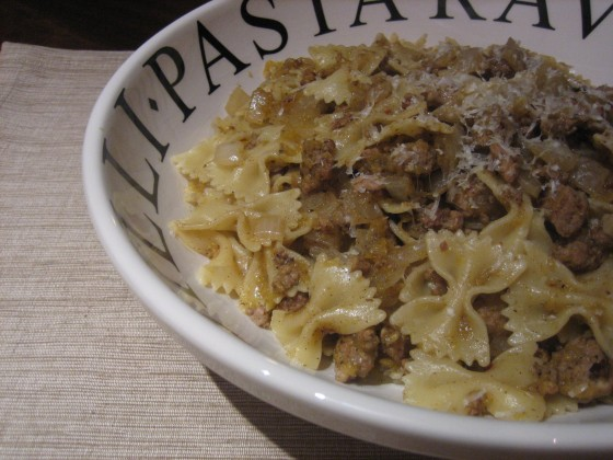 Pasta with Sausage and Pumpkin
